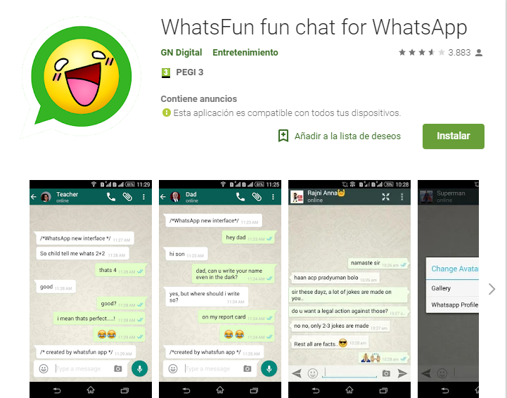 WhatsFun fun chat for WhatsApp