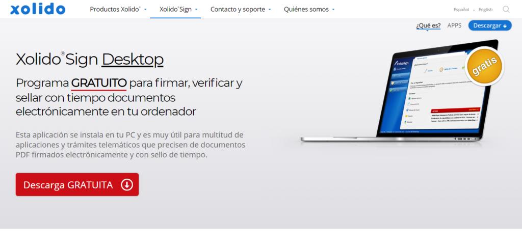 Xolido®Sign Desktop programa para firmar, verificar y sellar