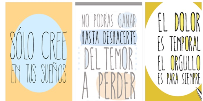 Frases Motivación Mr Wonderful app móvil