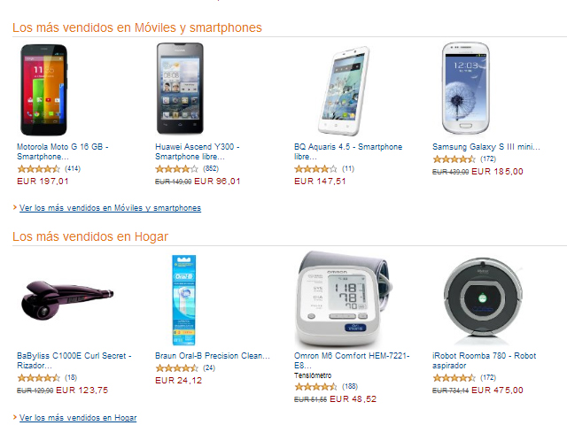 artículos más vendidos en amazon