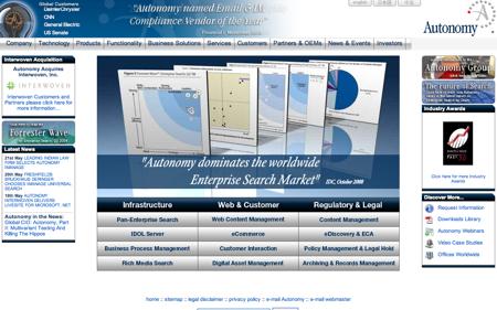 , HP adquiere el control de la firma de software Autonomy Corporation Plc.