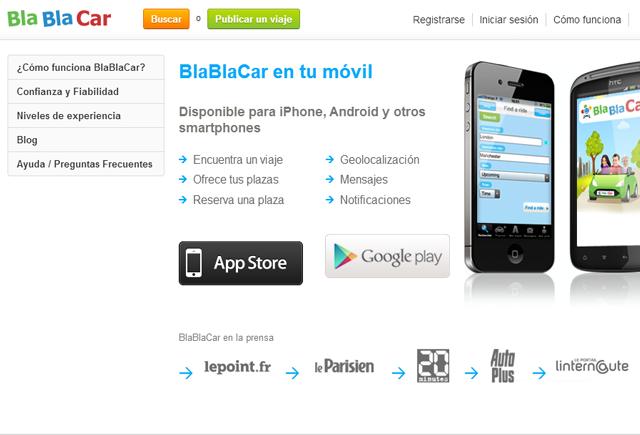 bla bla car app móvil