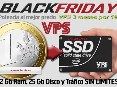 El Black Friday Servidores VPS por 1€