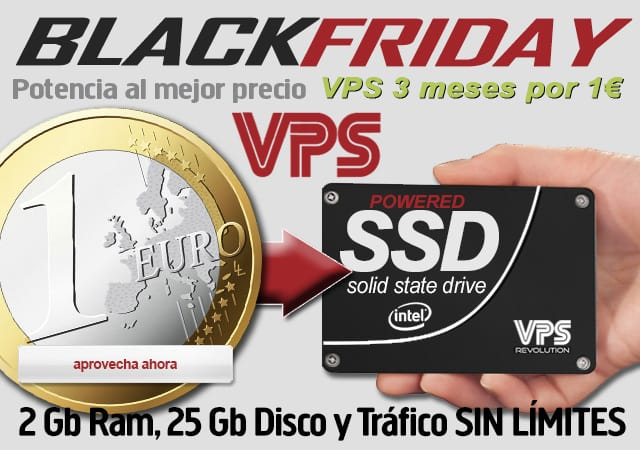 VPS SSD Black Friday 1 euro