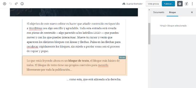 Gutenberg nuevo editor de WordPress, Tutorial de Gutenberg: el nuevo editor de WordPress 5.0