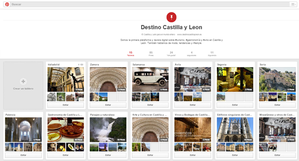 boards en Pinterest