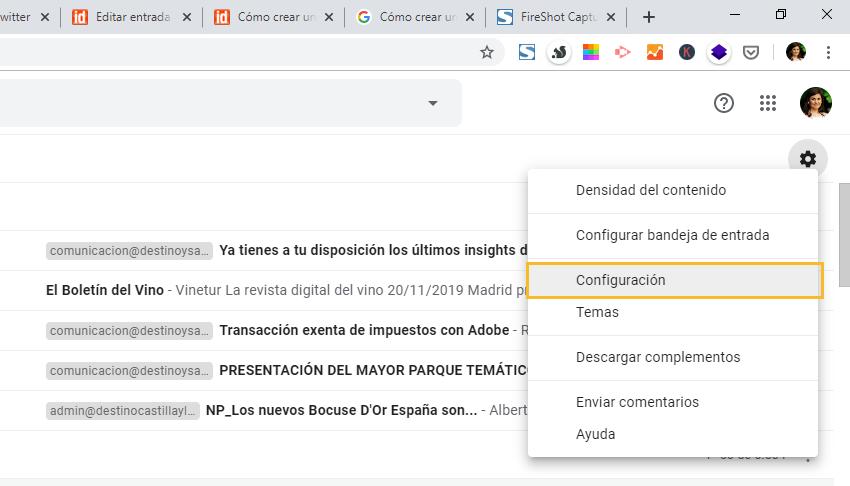 Cómo configurar la firma de correo electrónico en Gmail y adaptarla al nuevo RGPD, Cómo configurar la firma de correo electrónico en Gmail y adaptarla al nuevo RGPD