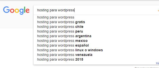 construir longtail con buscador de google