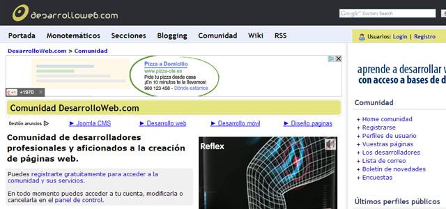 Desarrollo Web, comunidad para desarrolladores web