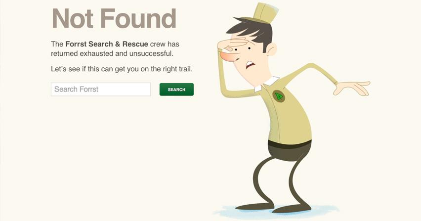 Pantalla de error 404. Fuente: 4webs.es