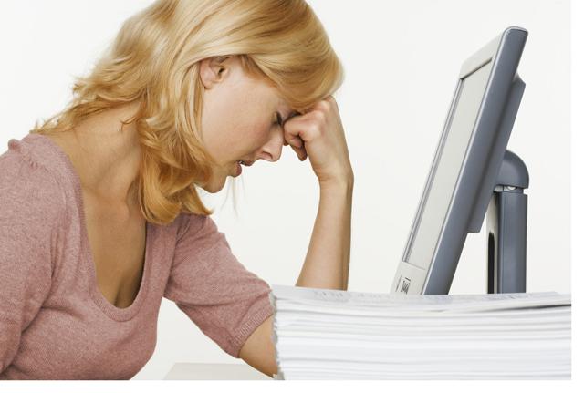 estrés en el trabajo Fuente: blogs.uab.cat