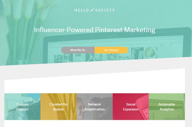 Hellosociety: aplicación para Pinterest