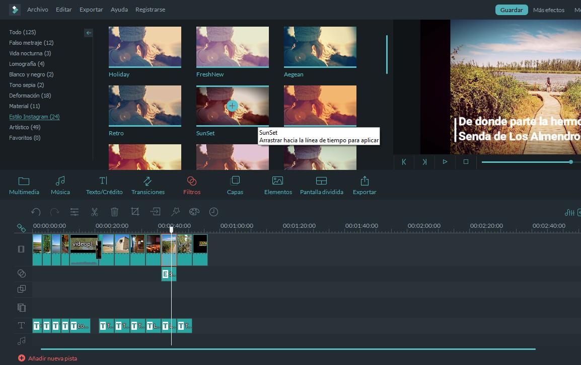 filtros en filmoraGo