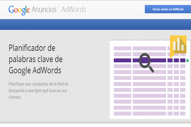 google adwords: keyword planner