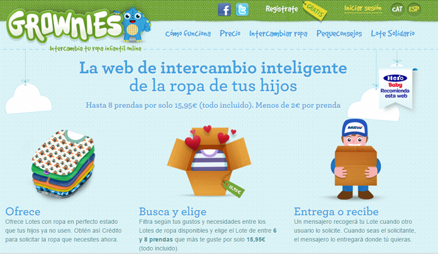 grownies, la web de intercambio inteligente