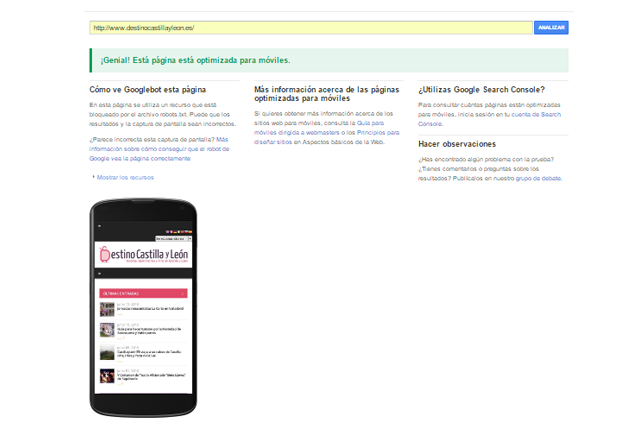 herramienta mobile friendly de Google