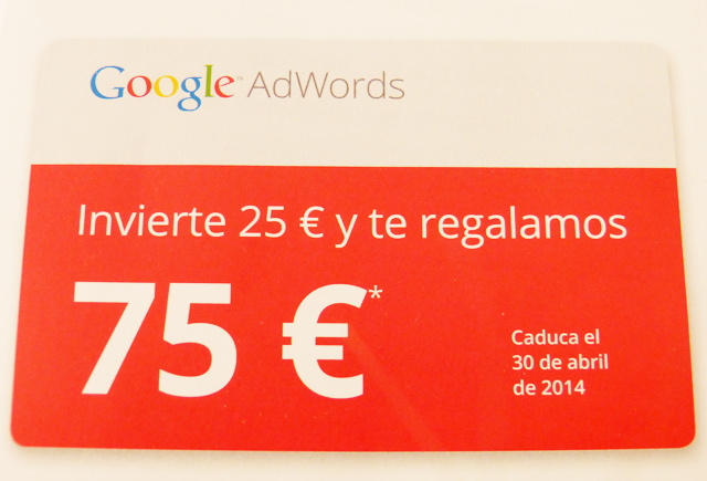Invierte € 75 Cuarto de AdWords de Google