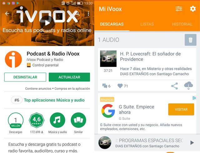 ivoox modelo de app free ads