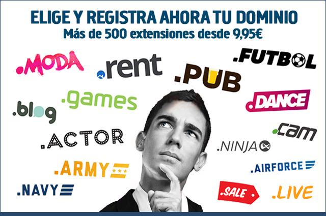 Registro de dominios web en interdominios