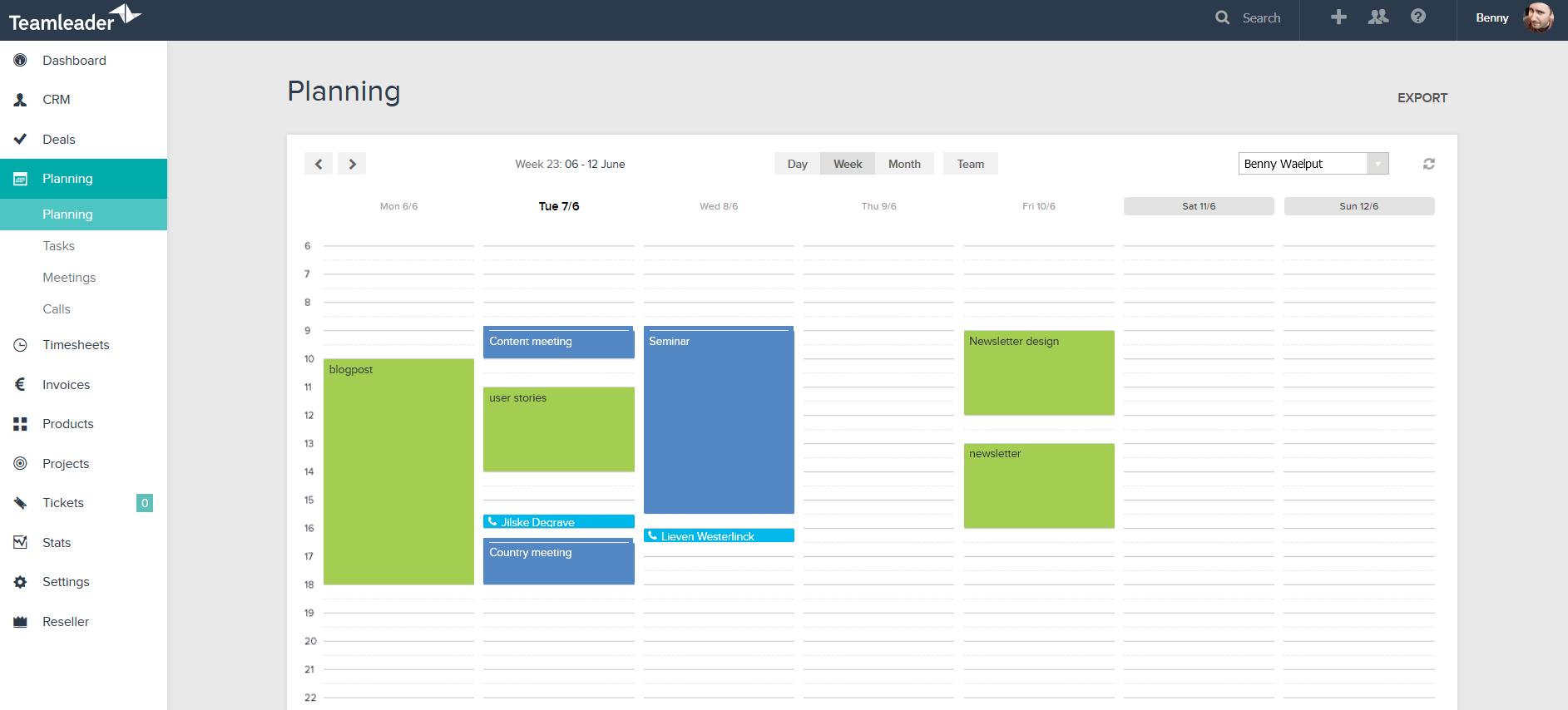 planning con Teamleader