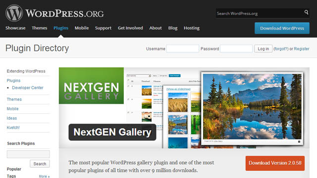 plugin nextgen gallery