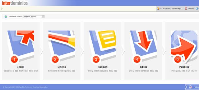 Como crear páginas web sencillas con Sitebuilder