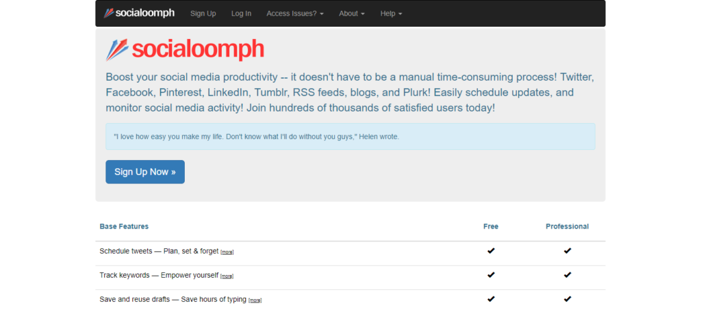 socialoomph Tools to Boost Your Social Media Productivity