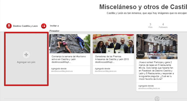 subir un pin en pinterest