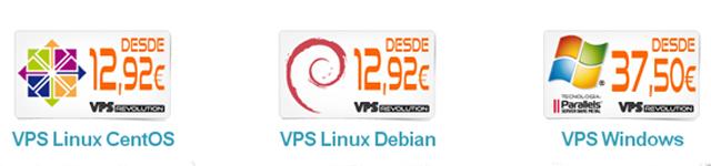tipos de servidores VPS en Interdominios