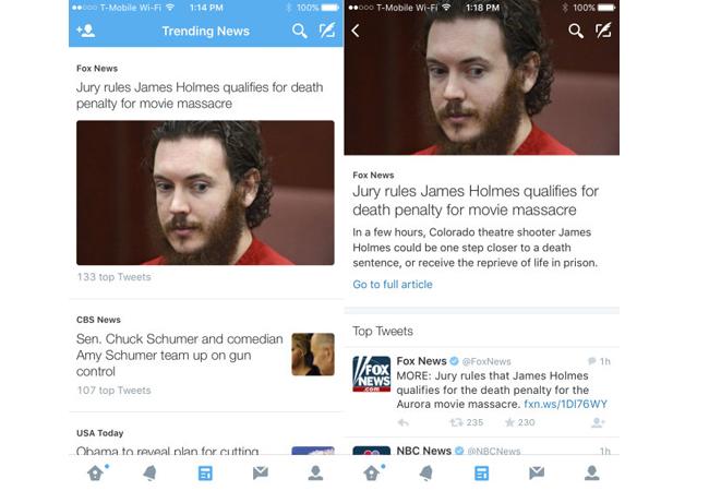 Trending news de Twitter. Fuente: www.redusers.com