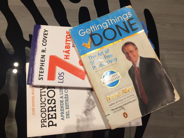 libros productividad personal. Fuente de la imagen: Vanesa Tejada_