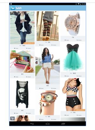 wish. App que vende productos con las imágenes de los compradores