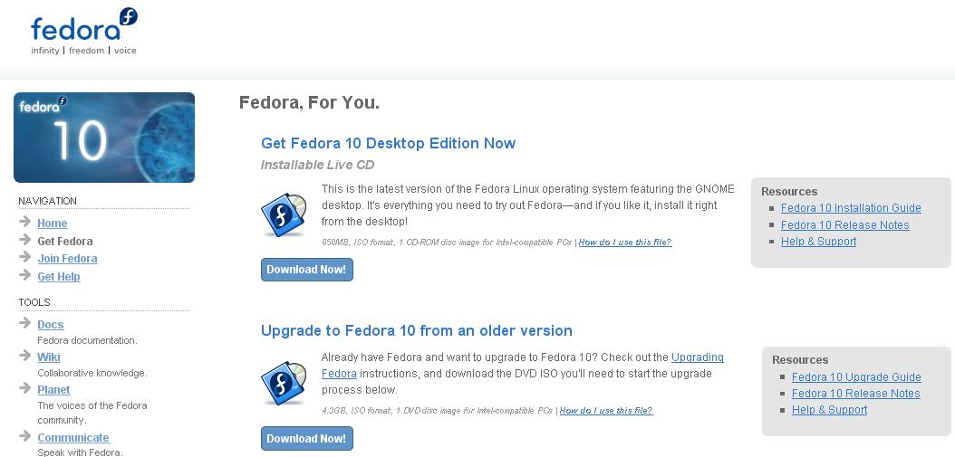, Ya disponible la versión Fedora 10