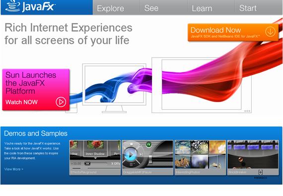 , JavaFX competirá con Adobe Flash y Microsoft Silverlight