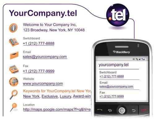 , El nuevo dominio «.tel» revolucionará la comunicación por internet